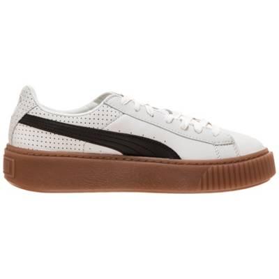PUMA, Basket Platform Perforated Sneakers Low, weiß | mirapodo