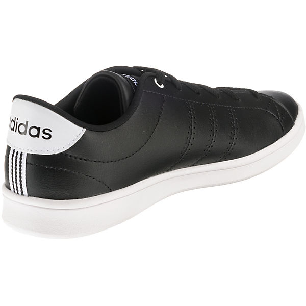 Low Clean Qt Inspired Sport schwarz Sneakers Advantage adidas xqYU8nCwR