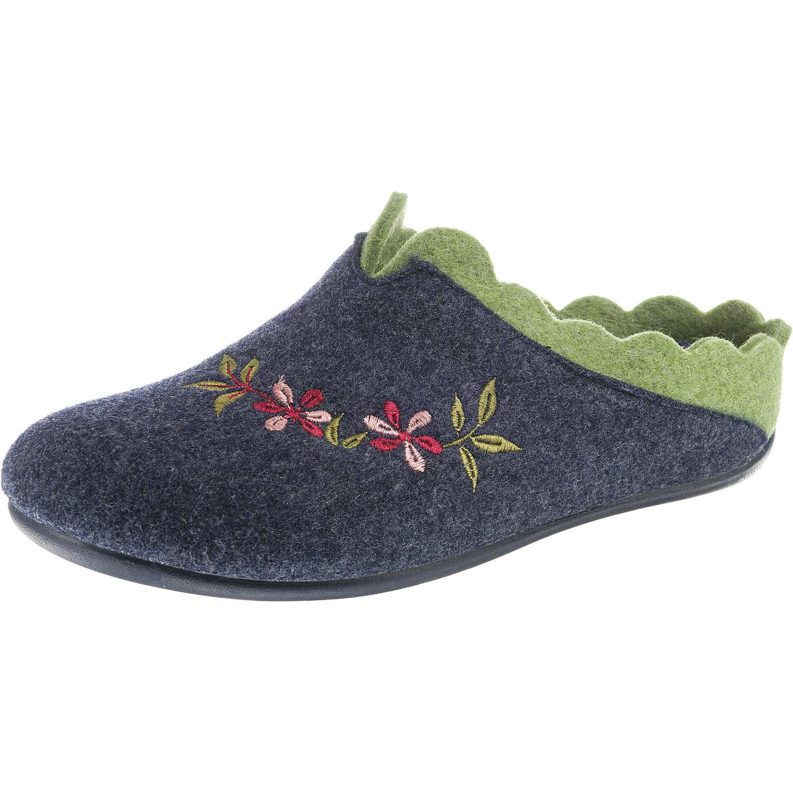 Florett Nesrin Pantoffeln dunkelgrau Damen Gr. 37