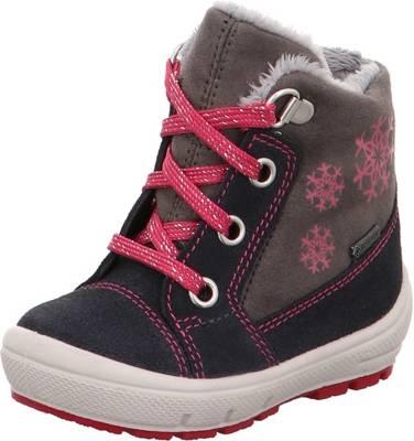 SUPERFIT GORETEX WASSERDICHT Mädchen Schuhe Gr. 34 grau pink