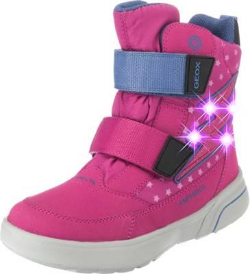 GEOX, Winterstiefel SVEGGEN Blinkies für Mädchen, AMPHIBIOX, gefüttert, Blitz, pink