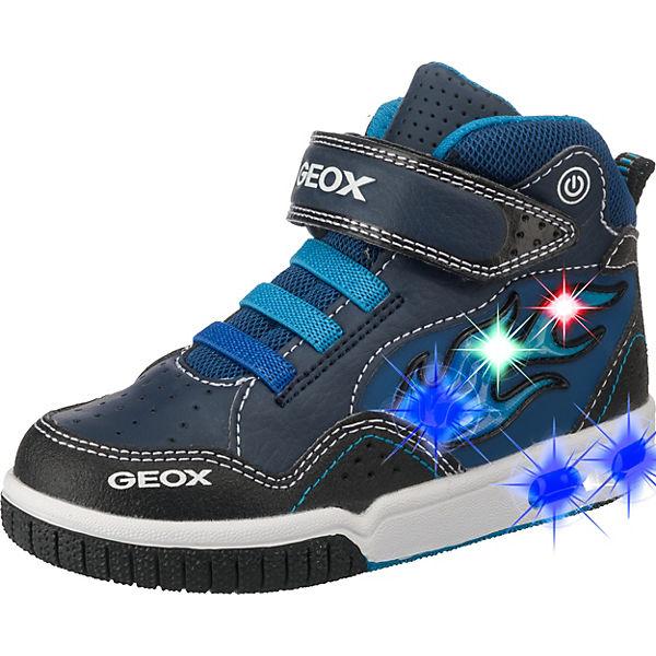 footwear huge inventory great deals GEOX, Sneakers High GREGG Blinkies für Jungen, Flamme, blau ...