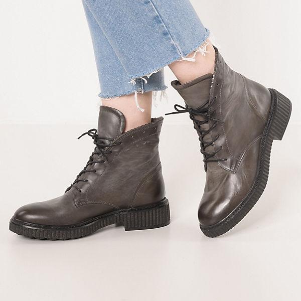 JOLANA & FENENA, Schnürstiefeletten, hellgrau Gute Qualität beliebte Schuhe