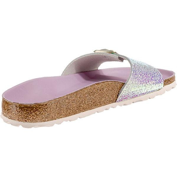 BIRKENSTOCK, Madrid schmal Komfort-Pantoletten, silber Schuhe  Gute Qualität beliebte Schuhe silber 885e0d