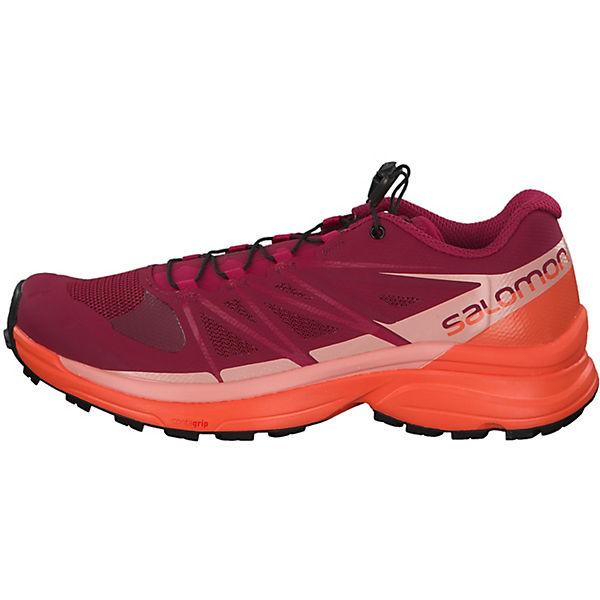 Salomon, Wings Pro 3 W mit Ortholite®- Einlegesohle 401473 Trailrunningschuhe, beliebte rot/orange  Gute Qualität beliebte Trailrunningschuhe, Schuhe b933a1