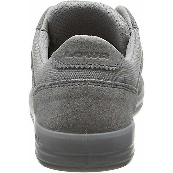 hellgrau Lisboa Low Zwischensohle LO Sneakers dämpfender mit LOWA SqTwOxP