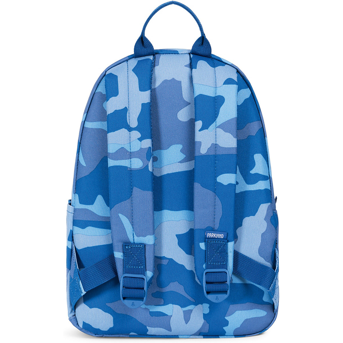 PARKLAND, Kinderrucksack THE EDISON Woodland Camo Blue, blau