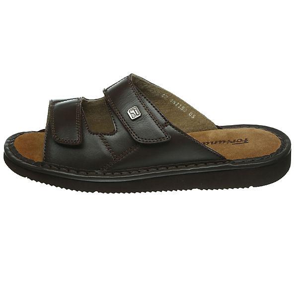 Fortuna, River Flex Komfort-Pantoletten, dunkelbraun  Gute Qualität beliebte Schuhe