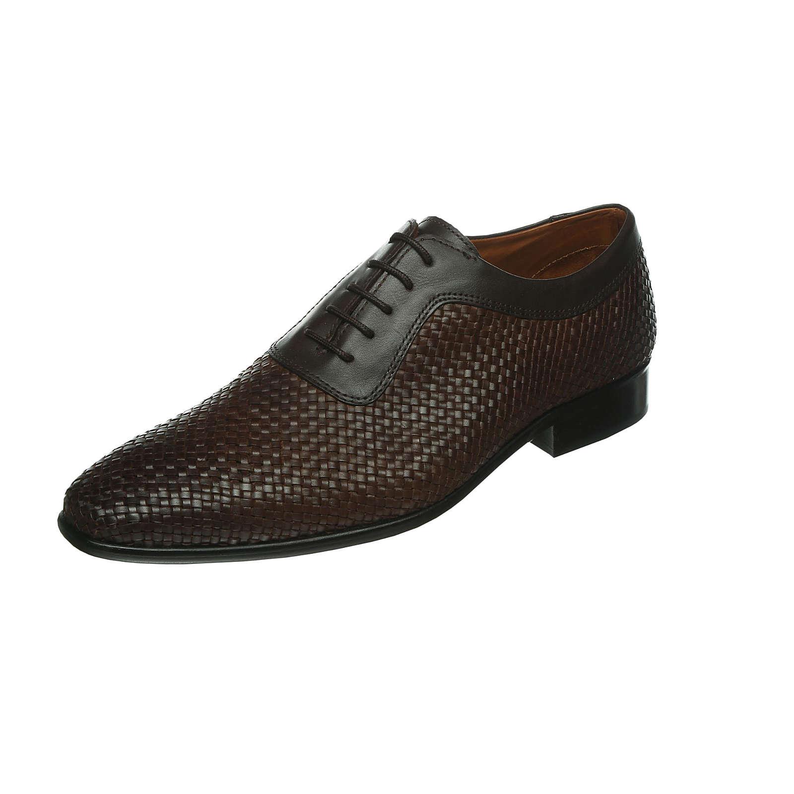 Artikel klicken und genauer betrachten! - Modischer Herren-Flecht-Schnürhalbschuh aus Kalbleder mit Lederfutter. Der Schuh hat eine Leder-Sohle und ist im Innenbereich angenehm gepolstert. (Weite G) Verschluss: Schnürverschluss Schuhweite: G Schuhspitze : Spitz Obermaterial : Kalbsleder Futter : Leder Decksohle : Herausnehmbare Ledersohle Laufsohle : Leder | im Online Shop kaufen