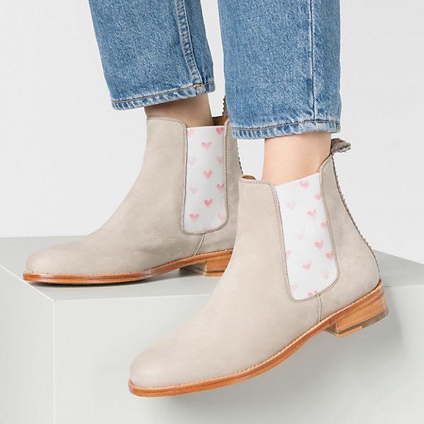 CRICKIT Torrente elastic hearts faded red Chelsea Boots grau  Gute Qualität beliebte Schuhe