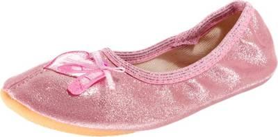 Beck, Kinder Gymnastikschuhe Ballerina für Mädchen, pink