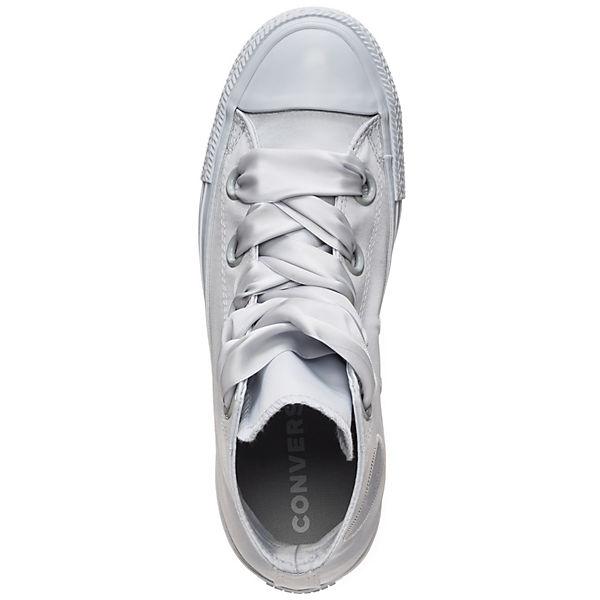 CONVERSE, Chuck Taylor All Star Big Eyelet Satin Sneakers High, beliebte hellgrau  Gute Qualität beliebte High, Schuhe 3e9248