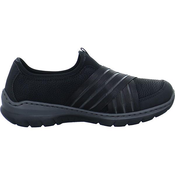 rieker, Sportliche Slipper, schwarz schwarz Slipper,   f1a7ed