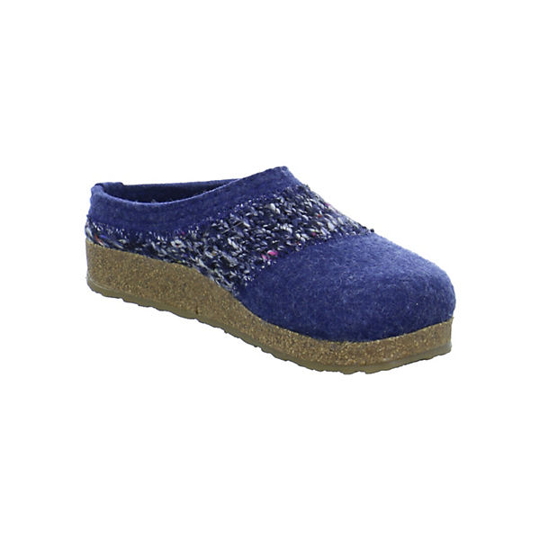HAFLINGER, Grizzly Anke Pantoffeln,  blau  Pantoffeln,  1e7edc