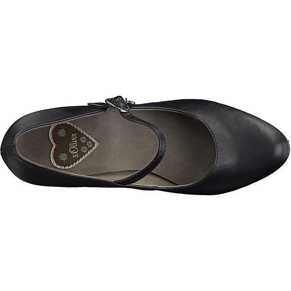 s.Oliver, Qualität Spangenpumps, schwarz  Gute Qualität s.Oliver, beliebte Schuhe d37720