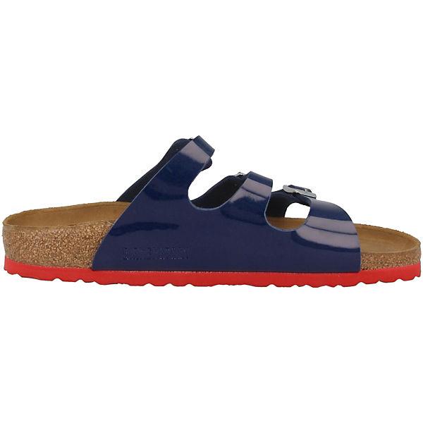 BIRKENSTOCK, Florida Birko-Flor Qualität  Komfort-Pantoletten, blau  Gute Qualität Birko-Flor beliebte Schuhe 69bd79