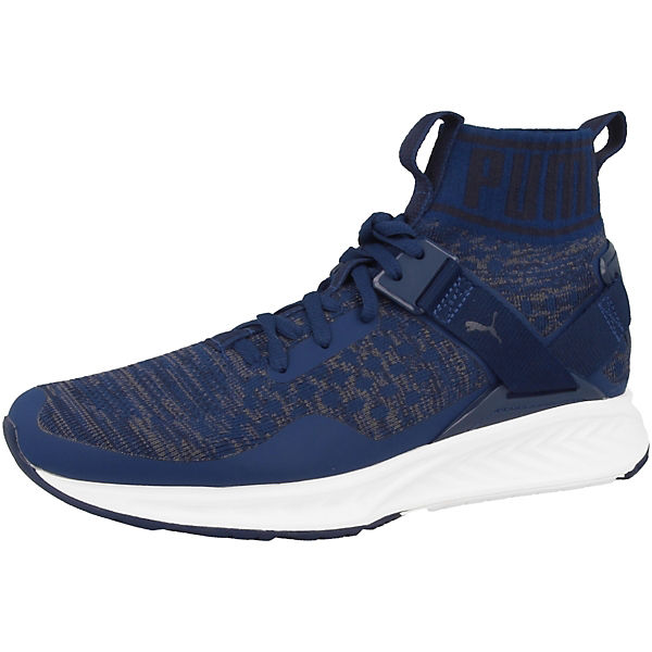 PUMA Ignite blau Sneakers High evoKNIT Schuhe CaCfq8