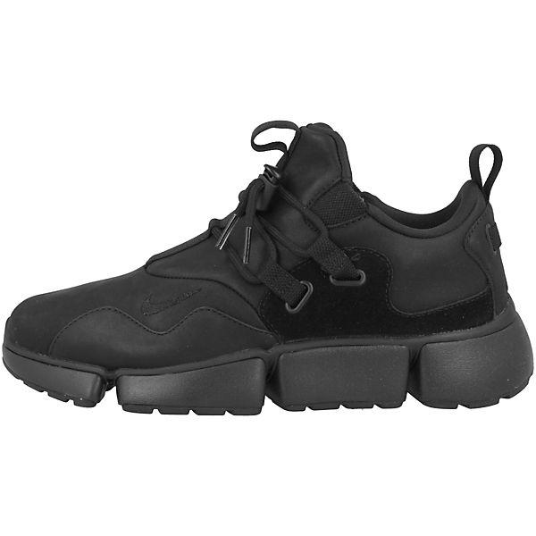schwarz Pocket DM Low Nike Sportswear Sneakers Knife Leather wff0tSx