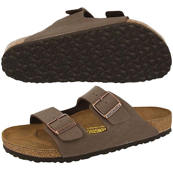 BIRKENSTOCK, braun Arizona Birko-Flor Nubuk Komfort-Pantoletten, braun BIRKENSTOCK,  Gute Qualität beliebte Schuhe 3788b0