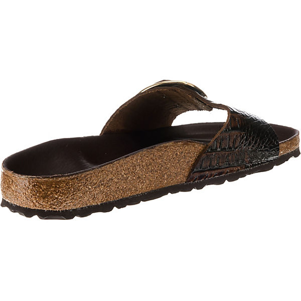 BIRKENSTOCK, Madrid schmal Pantoletten, beliebte dunkelbraun  Gute Qualität beliebte Pantoletten, Schuhe f9284b