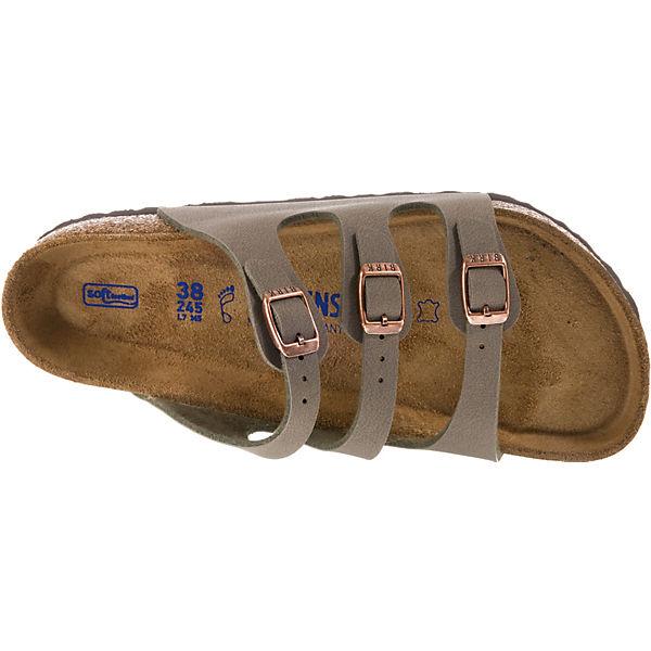 BIRKENSTOCK, Florida Weichbettung weit beliebte Pantoletten, grau  Gute Qualität beliebte weit Schuhe da9420