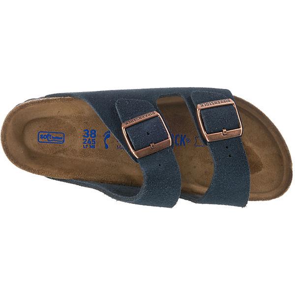 BIRKENSTOCK, Arizona  Weichbettung schmal Pantoletten, dunkelblau  Arizona Gute Qualität beliebte Schuhe 9fdef1