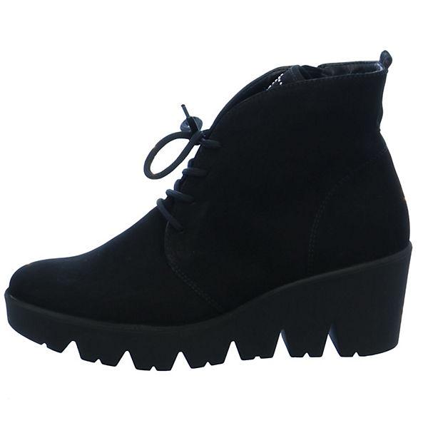 WALDLÄUFER, Schnürstiefeletten, schwarz  Gute Qualität beliebte Schuhe