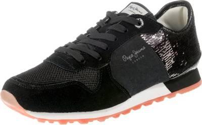 Sequins 2 JeansVerona W New Pepe LowSchwarz Sneakers 3Rj5LcAS4q