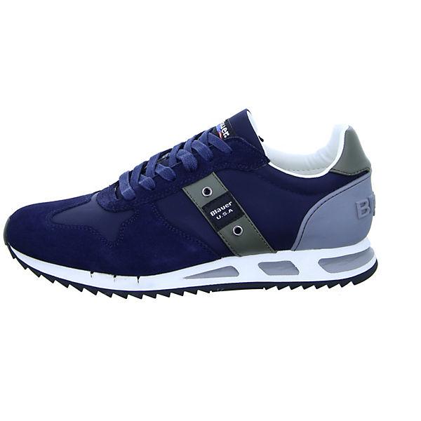 Low blau 8SMEMPHIS05 NYL Blauer Sneakers BwUnt47Hq