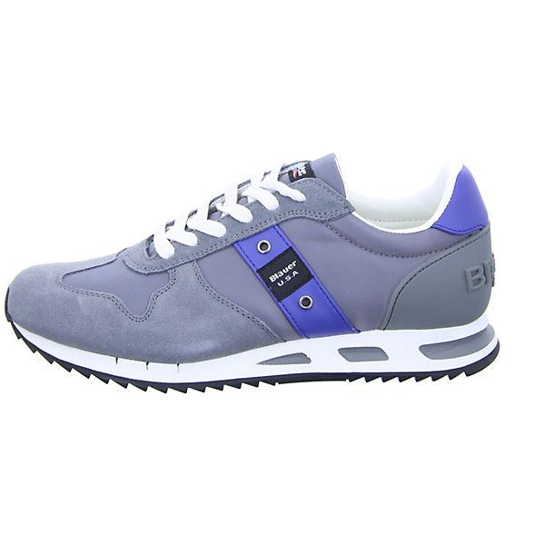 Blauer 8SMEMPHIS05/NYL Sneakers Low grau Schuhe  Gute Qualität beliebte Schuhe grau 4d941b