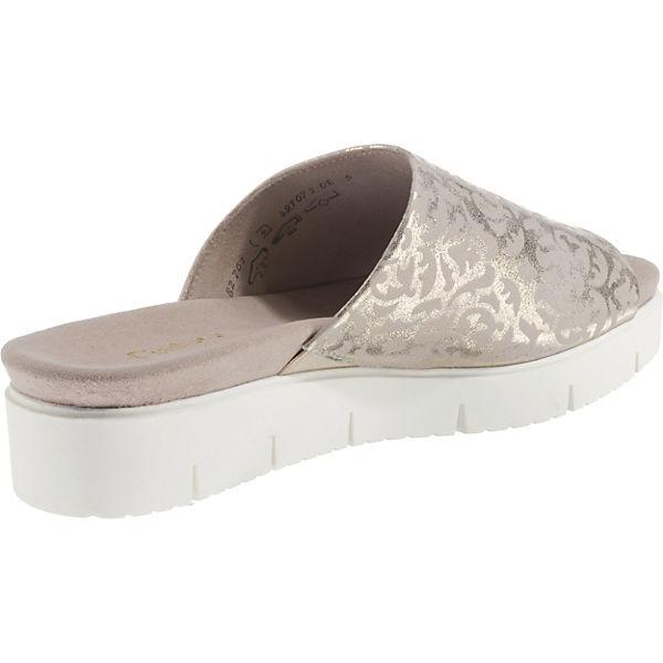 Gabor, Pantoletten, gold  beliebte Gute Qualität beliebte  Schuhe 45b56a