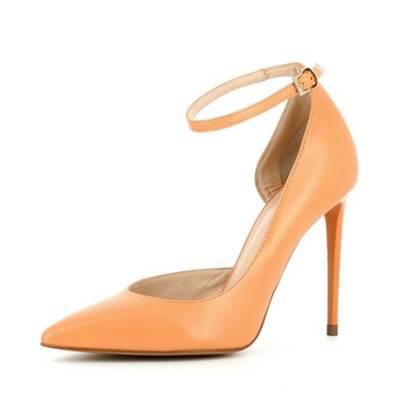 Evita Shoes Alina Damen Sling Pumps Glattleder Orange 35 OmXyBMjlTM