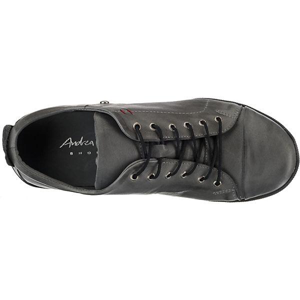 Andrea Andrea Conti Conti Sneakers anthrazit Low 116qZ