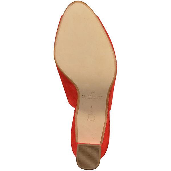 PETER KAISER, Sling-Pumps, rot  Schuhe Gute Qualität beliebte Schuhe  6defdd