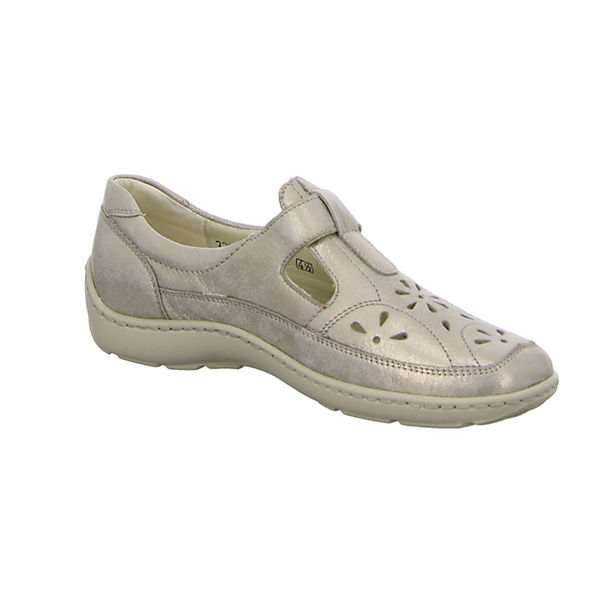 WALDLÄUFER, Komfort-Slipper, beige  beliebte Gute Qualität beliebte  Schuhe 9b5be3