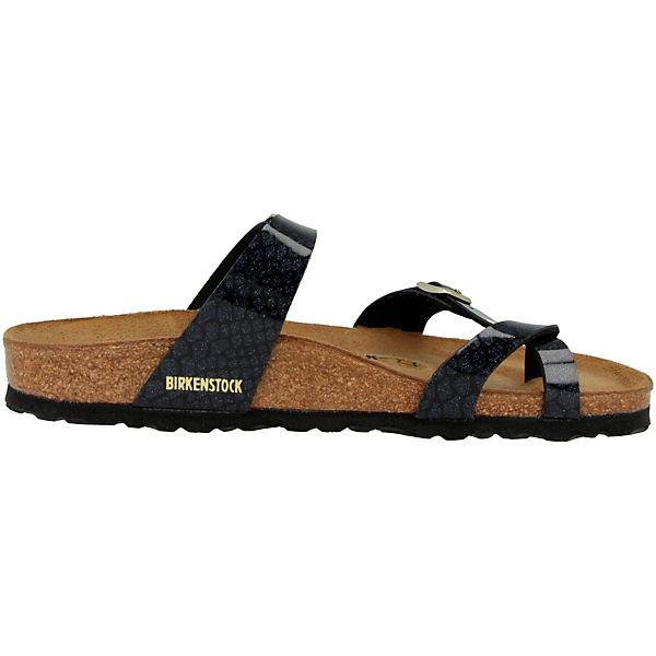 BIRKENSTOCK,  Mayari Birko-Flor schmal Komfort-Pantoletten, schwarz  BIRKENSTOCK, Gute Qualität beliebte Schuhe 1b079c