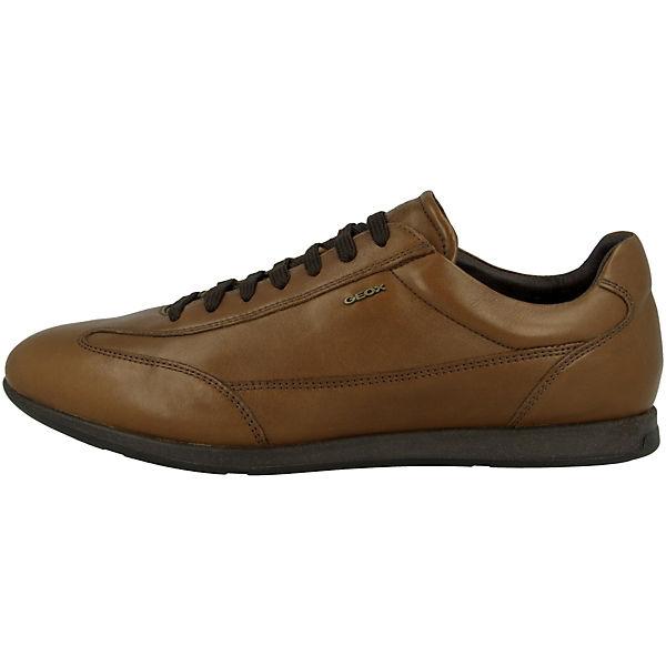 GEOX Clemet Sneakers A braun Low U wUnwTfvCq