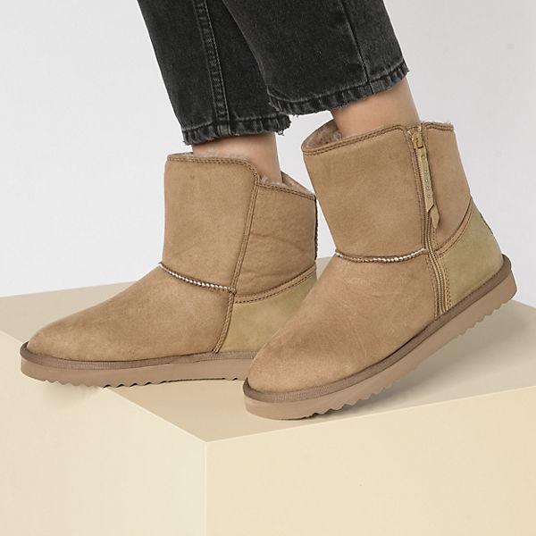 ESPRIT, Uma Zip Bootie Winterstiefeletten, beige  Gute Qualität beliebte Schuhe