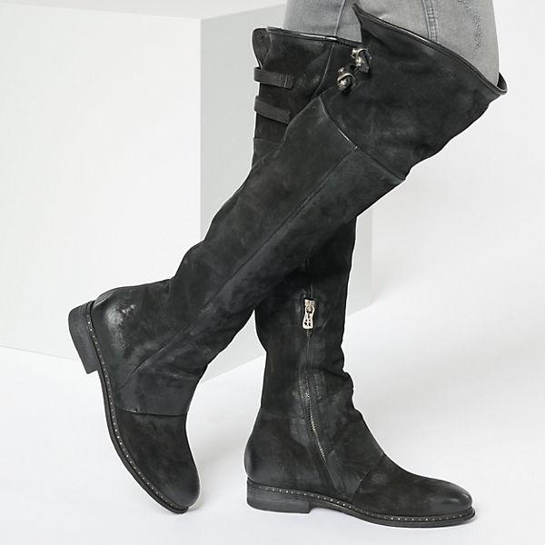 Overknee schwarz Stiefel A 98 S aqwEx47