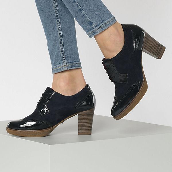 Tamaris, Schnürstiefeletten, blau  Gute Qualität beliebte Schuhe