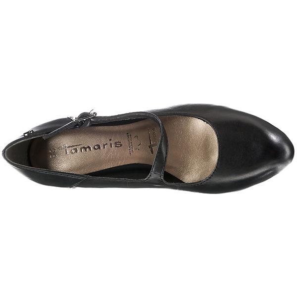 Tamaris, Spangenpumps, schwarz Schuhe  Gute Qualität beliebte Schuhe schwarz 9f039b