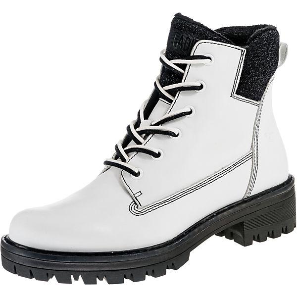 new concept 795b1 e0988 Tamaris, Biker Boots, weiß