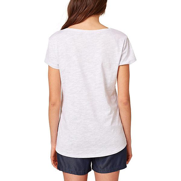 Shirt ESPRIT T Shirt weiß T ESPRIT weiß 74Fwdq