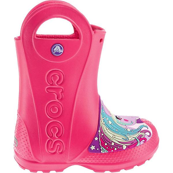 quality design b4990 f5c8d crocs, Gummistiefel Creature Rain Boot für Mädchen, pink