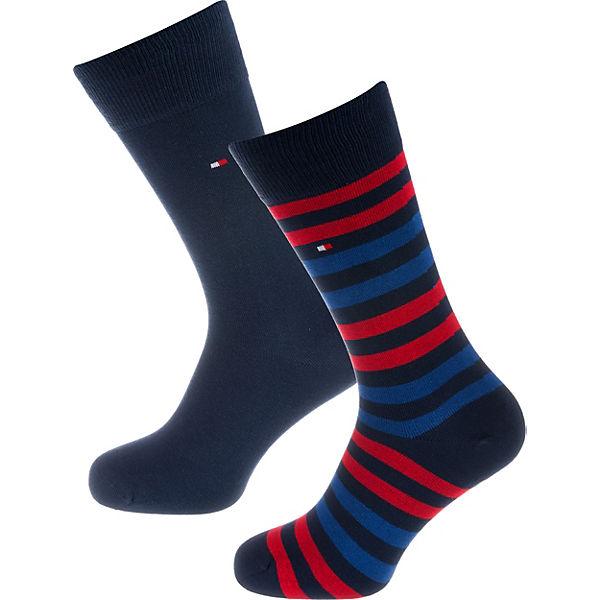 Paar 2 rot HILFIGER TOMMY blau Socken qUxPnwA4