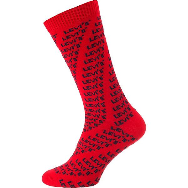 Paar Levi's® Socken 168SF rot blau 2 HEqpE