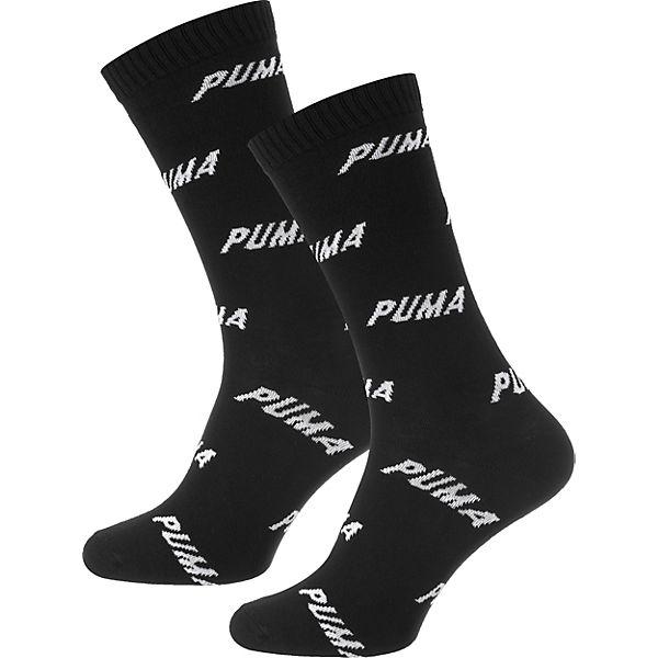 PUMA 2 schwarz weiß Socken Paar 868qwYr