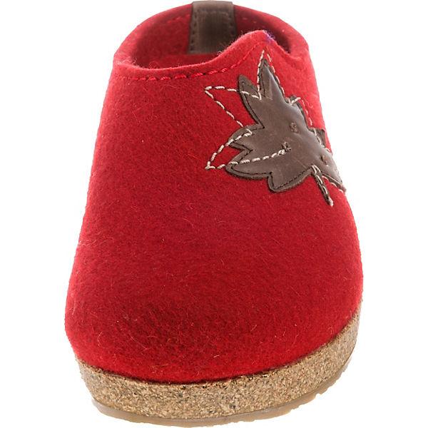 HAFLINGER, Grizzly Mood Pantoffeln, beliebte rot  Gute Qualität beliebte Pantoffeln, Schuhe 2c1a37