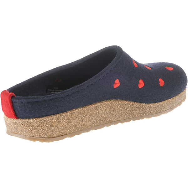 Grizzly Cuoricino HAFLINGER HAFLINGER Grizzly Pantoffeln Cuoricino Pantoffeln blau blau HAFLINGER Grizzly F0a8R