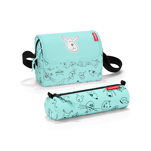 Kinder-Tasche mit Federmappe Surprise cats and dogs